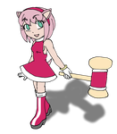 Human Amy Rose by Chaos55t