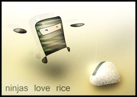 Ninjas Love Rice by furryomnivore