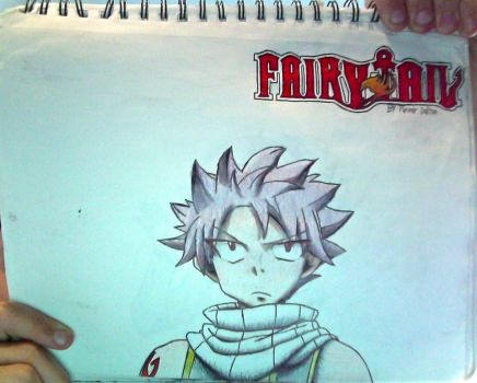 NatsuDragneel + FairyTail logo drawing (Unflipped) by TannMann64
