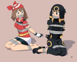 Umbreon and Haruka captured by Team Rocket by Natsuko-Hiragi