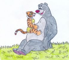 Baloo and Young Tigress by Jose-Ramiro