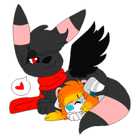 .:GA:. Umbre and Wolfie by DeerNTheHeadlights