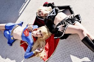 Supergirl and Dark Supergirl by ivettepuig