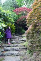 Mrs A* On The Stone Steps behind Heathfield House by aegiandyad