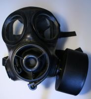 Gas Mask with Respirator Stock by XerStock