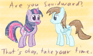 Twilight meets not-Squidward by Sharkwellington