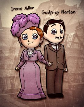 Irene Adler and Godfrey Norton by humon