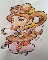 Watercolor Guqin Sona by mayka89
