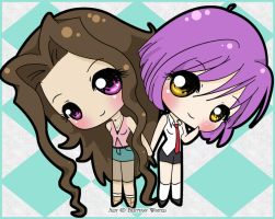 .:Ayumi and Vero:. by PhantomCarnival