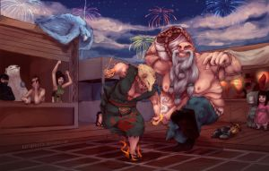 LoL: Drunken Boxing Gragas by scriptKittie