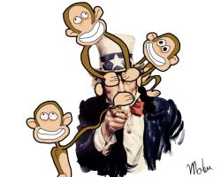 Uncle Sam and The Monkeys by mubassher