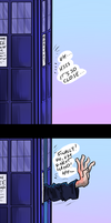 Washed TARDIS by Fonora