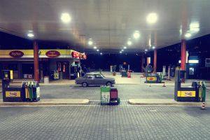 Gas station by Gianlooka