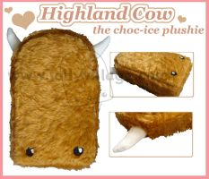 Highland Cow the plushie by fuzzy-jellybeans