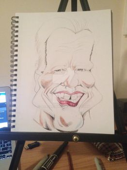 Process: Arnold Schwarzenegger Caricature 1 of 10 by AcrylicInk