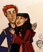 Ron and Hermione by casetuck