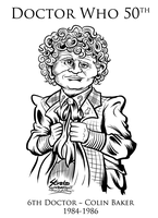 Doctor Who 6th Doctor Colin Baker by SouthParkTaoist