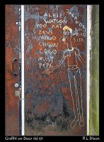 Graffiti on Door rld 01 dasm by richardldixon
