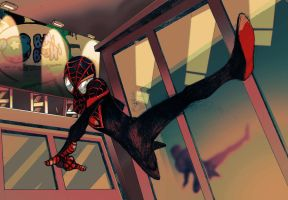 Miles Morales: Ultimate Spider Man by bernce