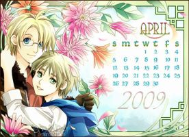 APH: USxUK April 2009 Calendar by BOMB4Y