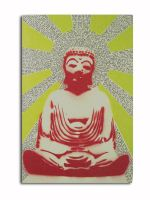 Buddha Stencil with Sutra by n8p