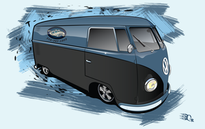 vw bus illustration by GabeRios