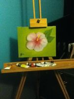 Hibiscus painting by Princess-Shannen