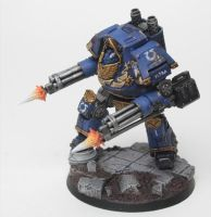 Ultramarines Alpha Company Contemptor (Side) by jstncloud