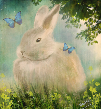 Spring Rabbit by AliMacArt