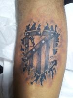 Atletico de Madrid Tatuaje by curi222