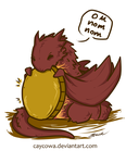 The Hobbit - Chibi Smaug On Nom Nom by caycowa