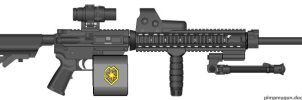 Solar Royal Guard M16A4 Light Support Weapon by radar651
