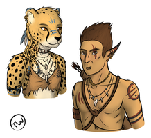 Vaal Elf and Be'vaal Cheetah by TitusW