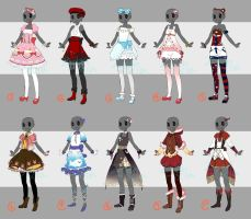 Adoptable: Outfits IV [CLOSED] by ZylenXia