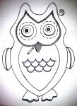 Owl Plush With Cigarette (Uncolored) by TB8S