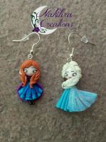 Anna and Elsa Earrings by Nakihra