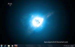 Windows 7 with star background by QuantomStarBox