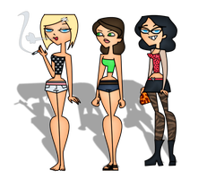 Ashley, Ally, and Morgan - Total Drama Style by Ashleykat