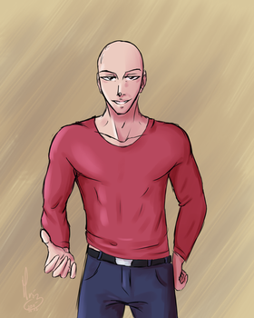 Good Lookin' Saitama by LaniusRios
