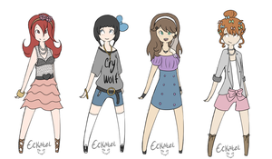 Adoptables- Female batch [Closed] by Gakuporn