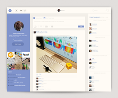 Facebook - Redesign by Arslan-Ali-Khaskheli