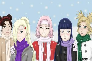 Kunoichi Winter by hummingbird005