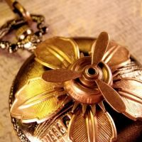 Airship Lotus Pocket Watch by Om-Society