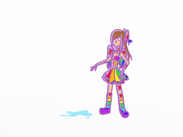 Rainbow puddle GIF by WrongCog