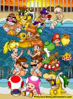 Mario gang Summer time 2011 by Princesa-Daisy