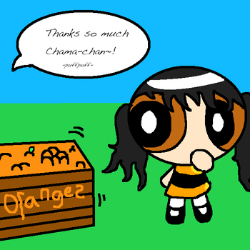 Chama-chan Likes Oranges by DistantHeroine