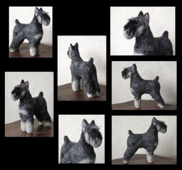 Maggie - needle felted dog by flyingduster