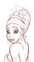 Tiana sketch by pandatails