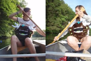 Canoeing with Forest Weeko by loveandasandwich