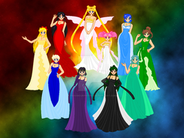 Neo Queen and Princesses by ParamourPhoenix